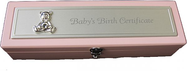 Souq | Baby Girl Birth Certificate Holder Silver plated | UAE