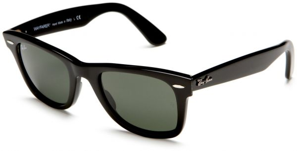 black ray ban wayfarer sunglasses  Ray-Ban Wayfarer Unisex Sunglasses - Black RB2140 55-17-140, price ...