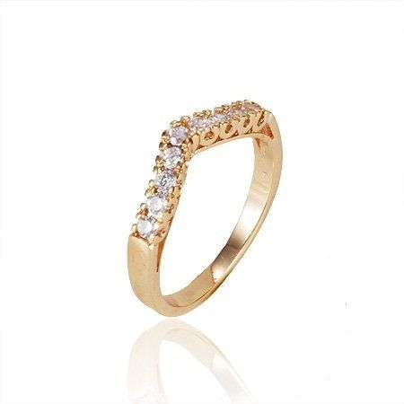Buy 18K Real Gold Plated Beautiful Lady Ring Rings UAE