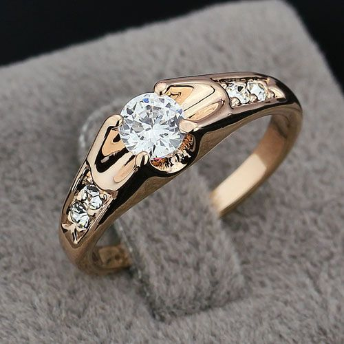 Buy Dainty Rose Yellow Gold Plated Ring Rings UAE