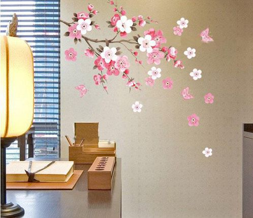 Removable Wall Sticker Flowers Butterfly Decal Art DIY Home Wall Decor  YHF 0110 S