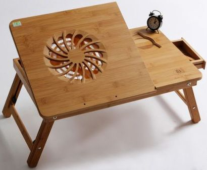 laptop table bamboo portable bed tray