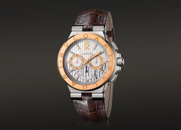 139030e8a3c Bvlgari DIAGONO CALIBRO 303 RoseGold and Steel Watch for Gents ...