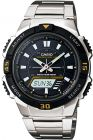 Tough Solar Watch for Men by Casio , Analog/Digital , Stainless Steel , Silver , AQ-S800WD-1EV (Watch)