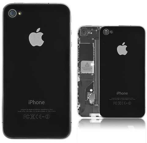 timeless design 2fb8e b5d7e IPhone 4s Back Cover Replacement - Black