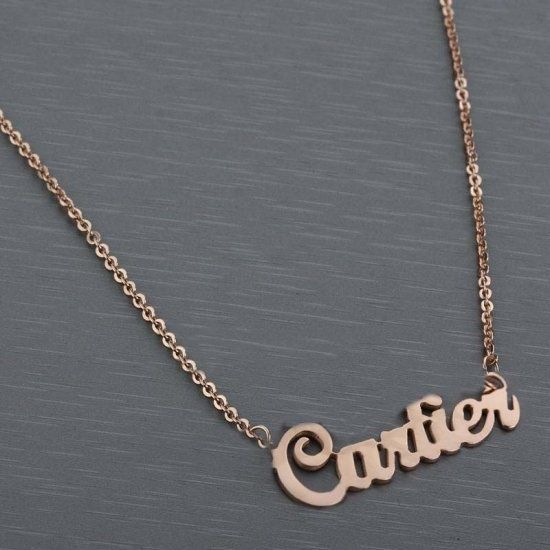 Buy luxury 14k rose gold plated cartier name necklace necklaces luxury 14k rose gold plated cartier name necklace aloadofball Images