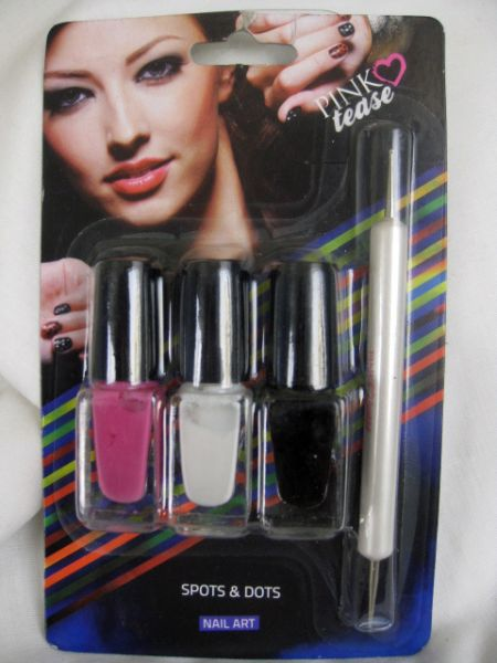 Pink Tease Spots And Dots Nail Art Kit Na18 Price Review And Buy
