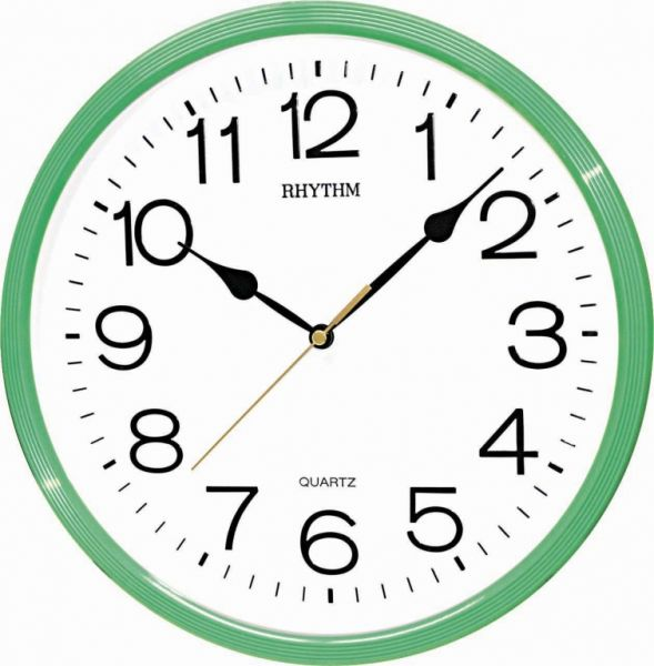 Rhythm Wall Clock Light Green price review and buy in Dubai