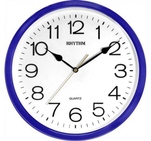 Rhythm Wall Clock Blue price review and buy in Dubai Abu