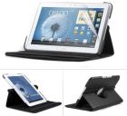 360 Rotating Case Cover with Screen Protector for Samsung Galaxy Note 10.1  Note N8000 - Black (Tablet Accessory)