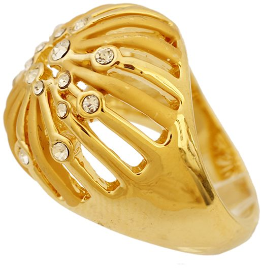 Buy Golden Essentials 22K Gold Plated Taj Crown Design Ring with