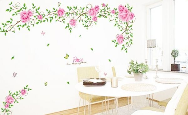 Miihome Removable Wall Sticker Rose Price Review And Buy In - Wall decals dubai