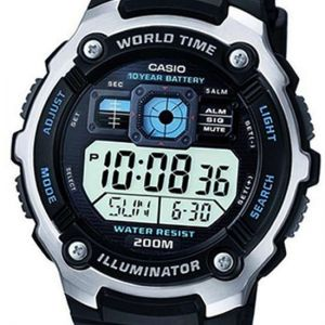 Buy Casio 200m Water Resistant Watch 5 Alarms World Time