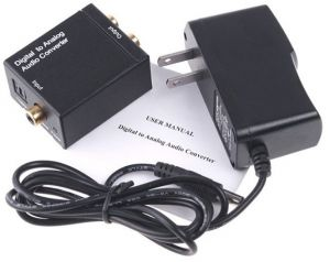 Digital Converter Optical Coaxial Optical to Analog RCA Audio Converte...
