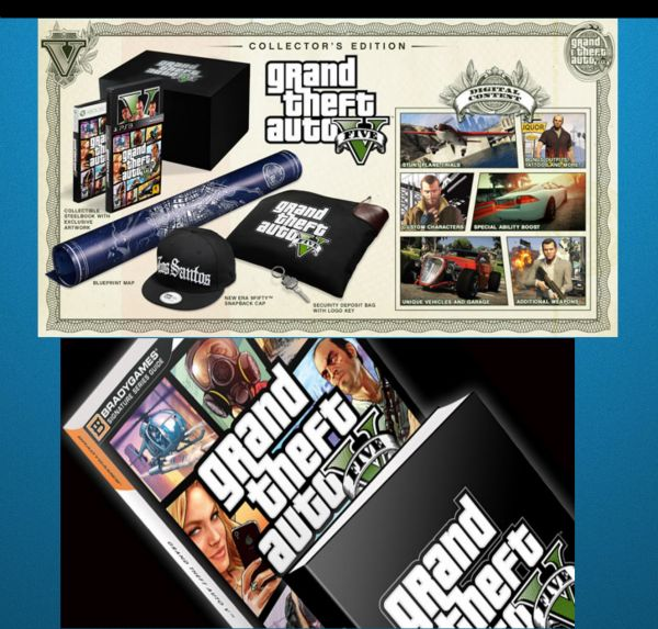 GTA V BUNDLE(COLLECTORS EDITION LIMITED EDITION STRATEGY GUIDE
