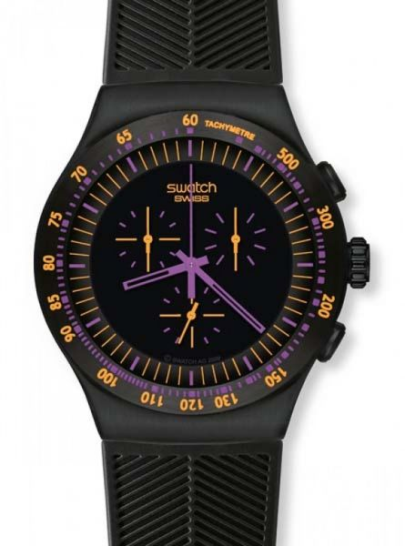 Swatch chrono black coat