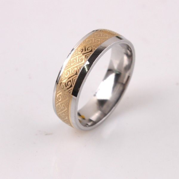 Buy real gold plated classy engagement wedding ring for Dubai gold wedding rings