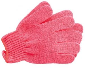 The Body Shop Bath Gloves Coral Pink