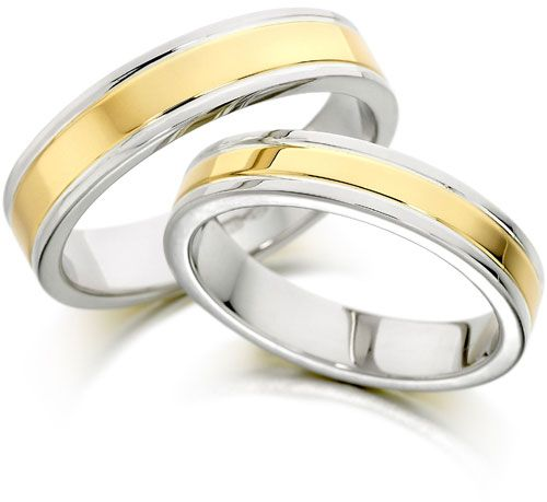 Buy 18K White Gold Two Tone Finish Wedding Band Ring in Size 20