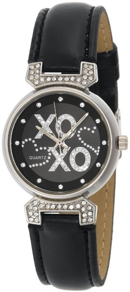 Buy xoxo women 39 s xo3063 black leather strap watch watches uae souq for Watches xoxo