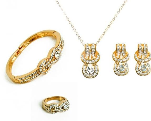 Buy knoted 18k Gold plated jewellery set Jewelry sets UAE Souq
