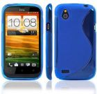 Blue TPU gel case for HTC Desire X and Desire V (Mobile Phone Accessories)