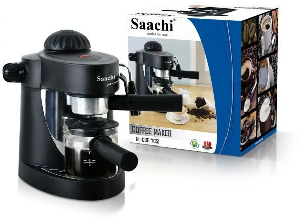 Can A Coffee Maker Left On Start A Fire : Saachi Cappuccino Coffee Maker - Black, price, review and buy in Dubai, Abu Dhabi and rest of ...
