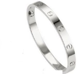 Silver Cartier Design Love Bracelet Medium