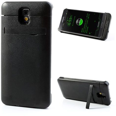 detailed look 342be 6ee19 Black 4200mAh External Battery Case for Samsung Galaxy Note 3 N9000 w/ Stand