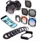 6pcs ND2 4 8 Gradual Grey Orange Blue Filter Set with 9pcs Ring Adapter for Cokin P (Camera and camcorder Accessories)
