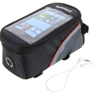 Outdoor Sports Cycling Bicycle bag,Bike Frame Front Tube Bag basket for Cell mobile Phone PVC ---red&black