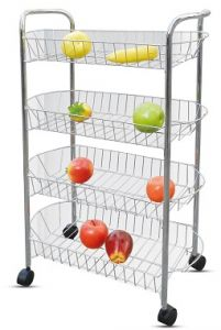 668ed70680bb 4-Tier Stainless Steel Chrome Plated Kitchen Trolley Rack RS4514