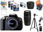 Canon EOS700D Digital Camera - 18-55IS, 50mm, 75-300III, 16GB, Case, Tripod, UV Filters, Screen Cover, Cleaning KIT, IR RC (Digital Camera)