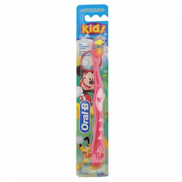Oral B Stages 2 Mickey Mouse Soft Toothbrush (2-4 Years), Multi Color