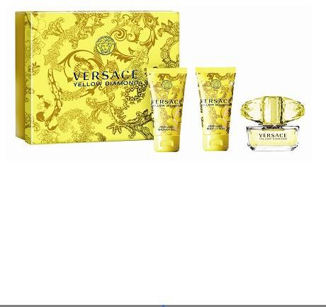 Versace Yellow Diamond Gift Set for Women (EDT 50 ML, Shower Gel ...