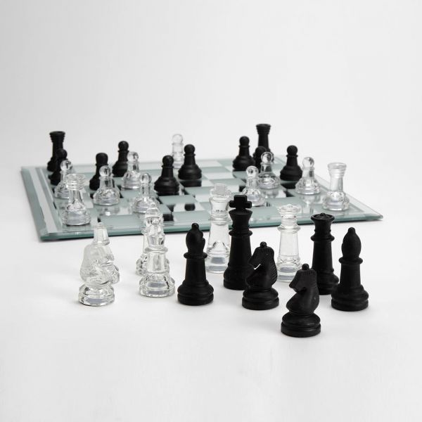 Amadeus Glass Chess Set Board Games Cards 35 X 35 Cm