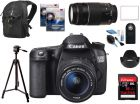 Canon 70D 18-55 IS STM * 75-300III * 16GB Extreme * Back Bag * Tripod * Cleaning KIT * UV Filters * Lens Hood * IR RC * Screen Cover (Digital Camera)