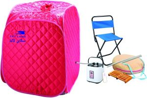 Sauna Family Small with chair  [Pink]