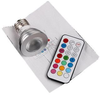 Led Lamp Color Change Led Rgb Light Bulb With Remote Control 120