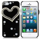 Luxury Crystal Series Apple iPhone 5 5S Hard Case Cover Included Calans Screen Protector -(Heart) (Mobile Phone Accessories)