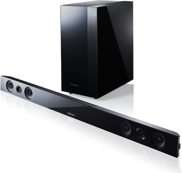 Samsung hw f450 2 1 channel sound bar system with wireless for Samsung sound bar