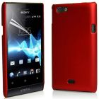 Ultrathin Type Sony Xperia Miro ST23i Hard Back Case Cover With Free CALANS Screen Protector -(Red) (Mobile Phone Accessories)