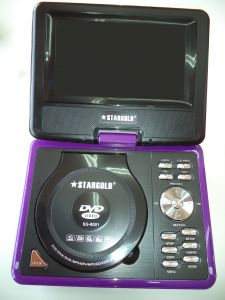 """STARGOLD PORTABLE DVD PLAYER WITH 9.5"""" TFT LCD screen,compatible with ..."""