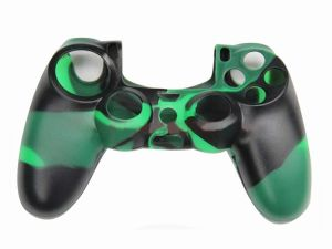 Camouflage Series Silicone Protective Controller GamePad Joypad Case Skin Cover for Sony PS4 Green Black