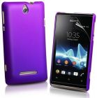 Ultrathin Type Sony Xperia E C1605 Hard Back Case Cover With Free CALANS Screen Protector -(Purple) (Mobile Phone Accessories)