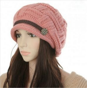 0141a8e7a9e Headwear Women Warm Rageared Baggy Winter Beanie Chunky Knit Crochet Ski Hat  Cap GH3132 Pink