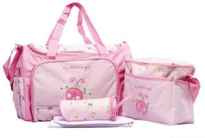 4PCS Waterproof Baby Diaper Nappy Bag Mummy Tote Handbag fa164d7955334