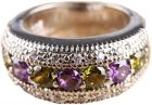 HOT ROUND CUT PERIDOT SILVER RING SIZE 6 GR1-0108 (Ring)