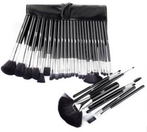 32pcs Black color professional mac Cosmetic Makeup Brushes Set Brush Make up Tool Kit Case