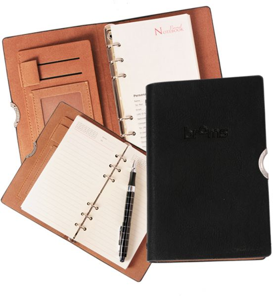 A6 Leather Notebook Ring Binder